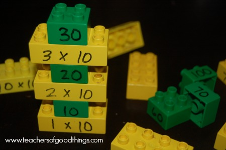 Stacking-Your-Tens-Legos-www.teachersofgoodthings.com_